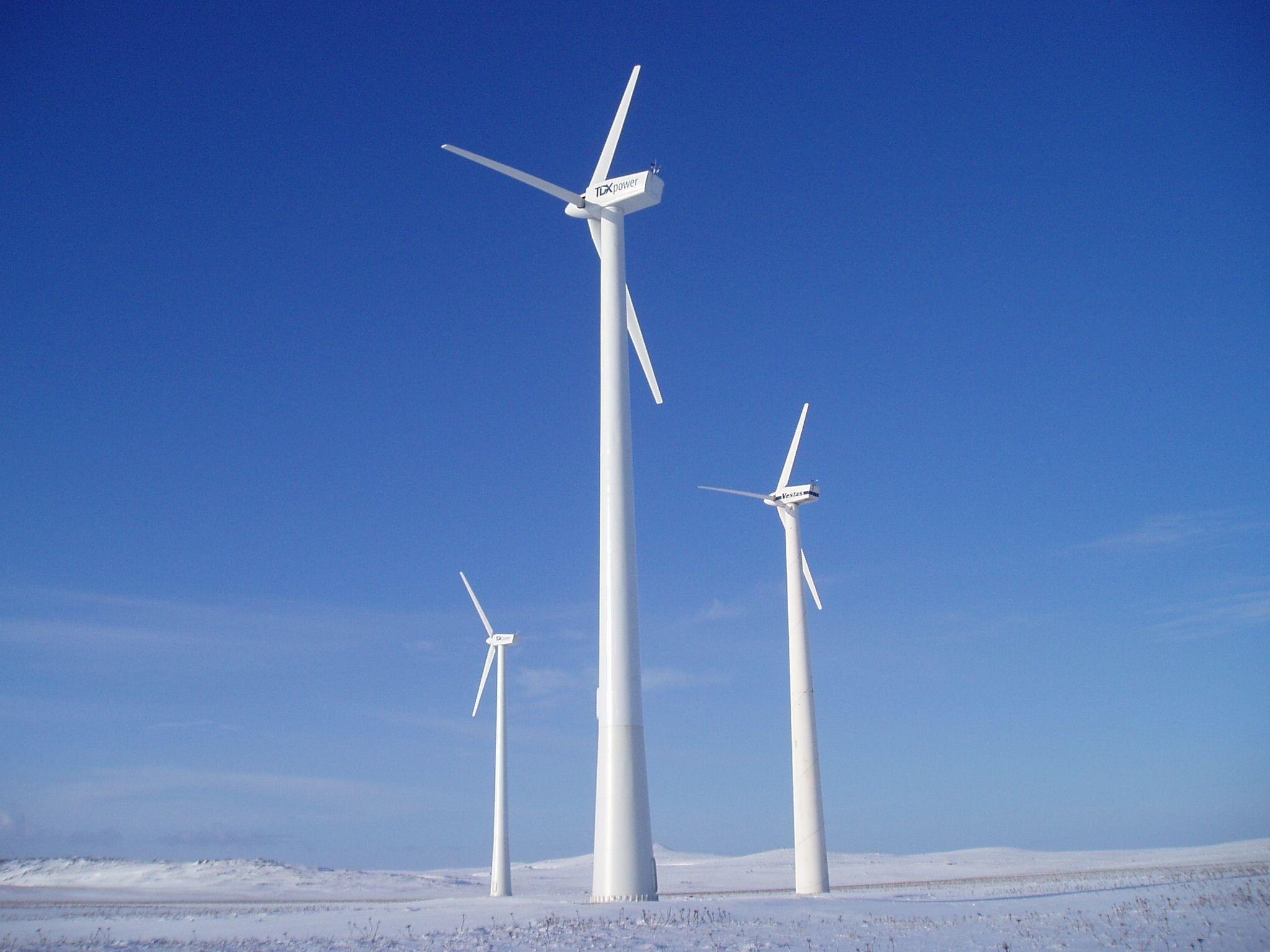 V27 Wind Turbines on St. Paul Island.